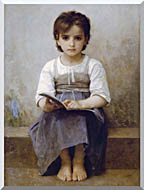 William Bouguereau The Difficult Lesson stretched canvas art