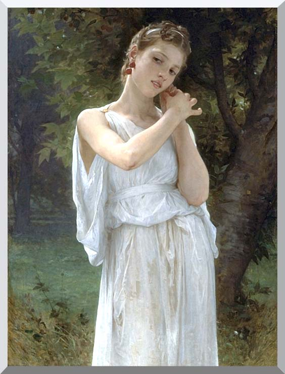 William Bouguereau The Earrings stretched canvas art print
