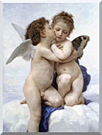 William Bouguereau The First Kiss stretched canvas art
