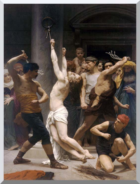 William Bouguereau The Flagellation of Christ stretched canvas art print