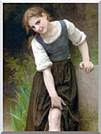 William Bouguereau The Ford stretched canvas art