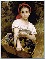 William Bouguereau The Grape Picker stretched canvas art