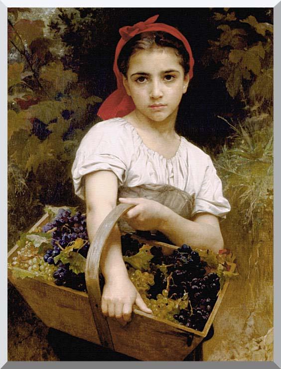 William Bouguereau The Grape Picker stretched canvas art print