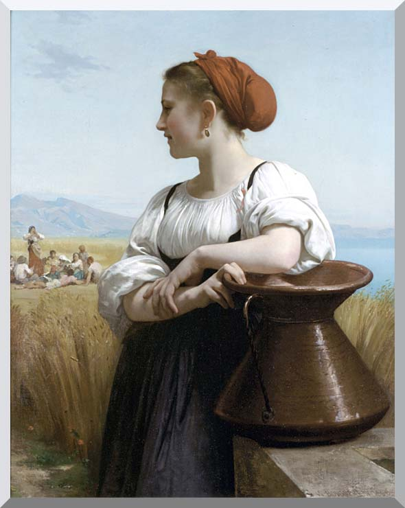 William Bouguereau The Harvester stretched canvas art print