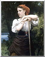 William Bouguereau The Haymaker stretched canvas art