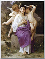 William Bouguereau The Hearts Awakening stretched canvas art