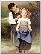 William Bouguereau The Jewel Of The Fields stretched canvas art