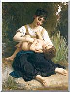William Bouguereau The Joy Of Motherhood stretched canvas art