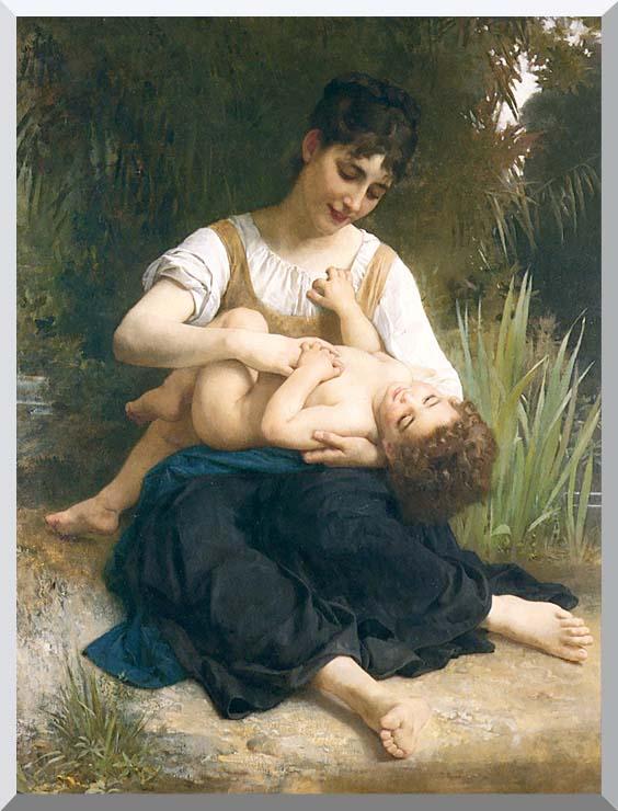 William Bouguereau The Joy of Motherhood stretched canvas art print