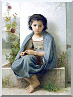 William Bouguereau The Little Knitter stretched canvas art