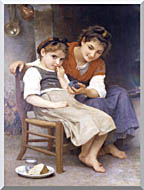 William Bouguereau The Little Sulk stretched canvas art