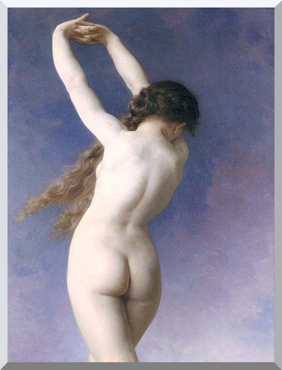 William Bouguereau The Lost Pleiad (detail) stretched canvas art print