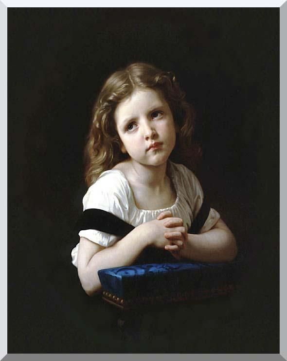William Bouguereau The Prayer stretched canvas art print