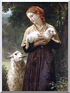William Bouguereau The Shepardess stretched canvas art