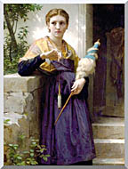 William Bouguereau The Spinner stretched canvas art