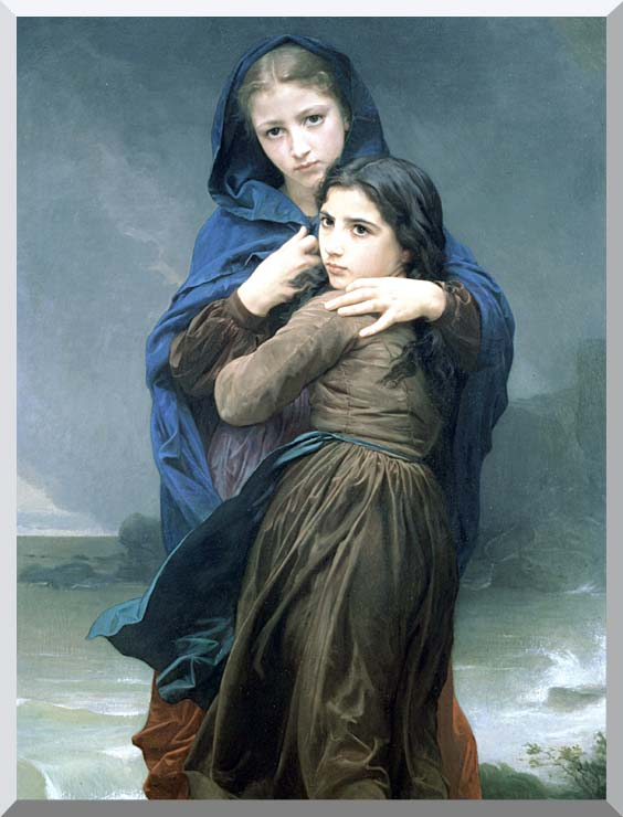 William Bouguereau The Storm stretched canvas art print