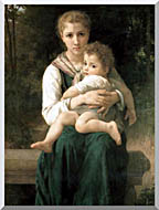 William Bouguereau The Two Sisters stretched canvas art
