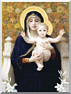William Bouguereau The Virgin Of The Lilies stretched canvas art
