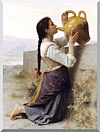 William Bouguereau Thirst stretched canvas art