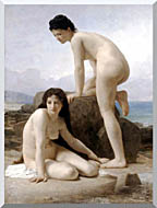William Bouguereau Two Bathers stretched canvas art
