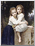William Bouguereau Two Sisters stretched canvas art