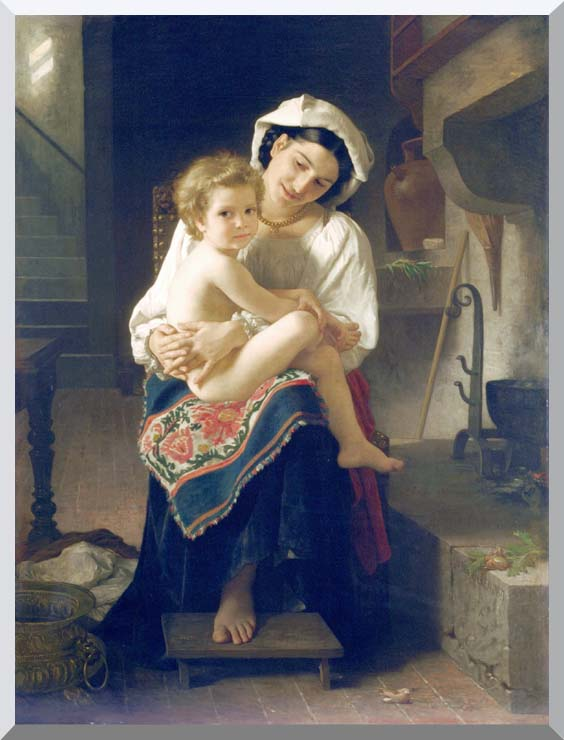 William Bouguereau Up You Go stretched canvas art print