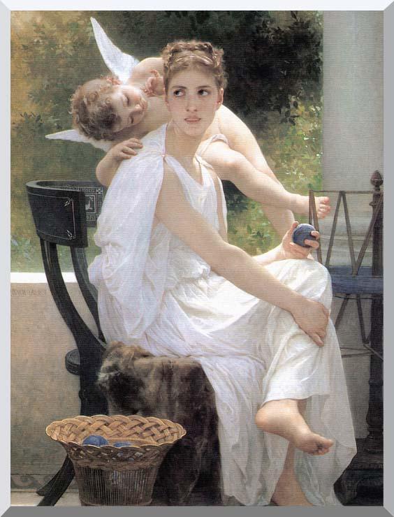 William Bouguereau Work Interrupted stretched canvas art print