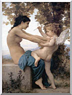 William Bouguereau Young Girl Defending Herself Against Love stretched canvas art