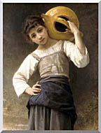 William Bouguereau Young Girl Going To The Fountain stretched canvas art