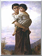 William Bouguereau Young Gypsies stretched canvas art