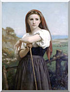 William Bouguereau Young Shepherdess stretched canvas art