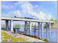 Claude Monet The Railroad Bridge Argenteuil stretched canvas art