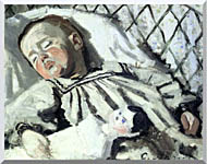 Claude Monet The Artists Son Asleep stretched canvas art