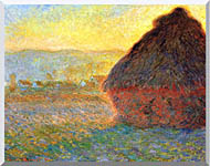 Claude Monet Haystack At Sunset Near Giverny stretched canvas art