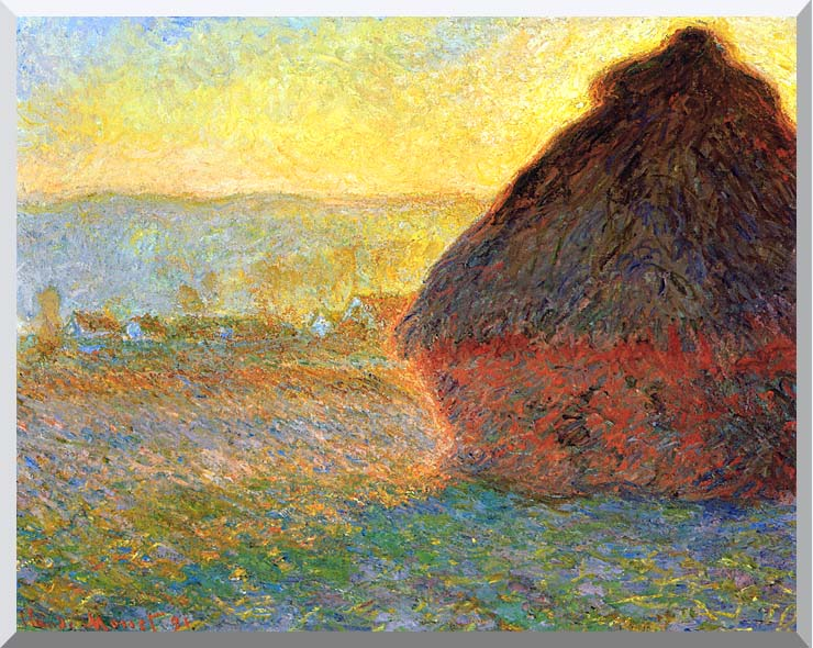 Claude Monet Haystack at Sunset near Giverny stretched canvas art print