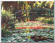 Claude Monet Japanese Foot Bridge At Giverny stretched canvas art