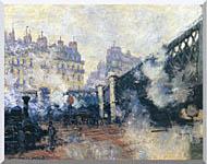 Claude Monet Le Pont De Leurope 1877 stretched canvas art