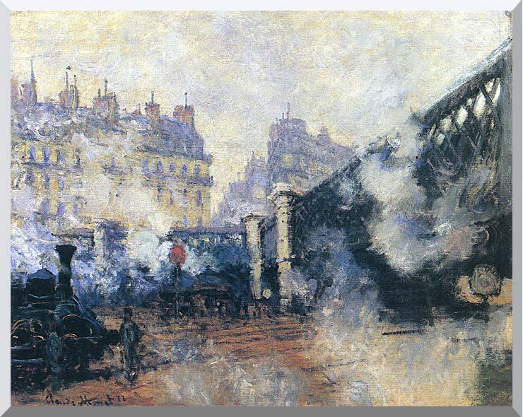 Claude Monet Le Pont de l'Europe 1877 stretched canvas art print