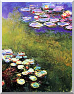 Claude Monet Monet Water Lilies stretched canvas art