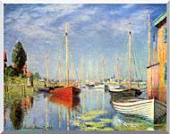 Claude Monet Pleasure Boats At Argenteuil stretched canvas art