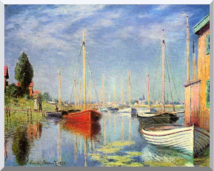 Claude Monet Pleasure Boats at Argenteuil stretched canvas art print