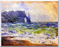 Claude Monet Rain At Etretat stretched canvas art
