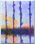 Claude Monet The Poplars stretched canvas art