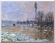 Claude Monet The Ice Floes stretched canvas art