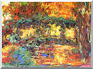 Claude Monet The Japanese Footbridge stretched canvas art