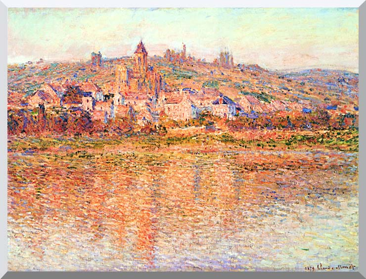 Claude Monet Vetheuil in Summertime stretched canvas art print
