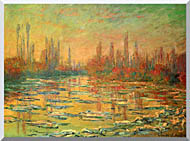 Claude Monet Floating Ice On The Seine stretched canvas art