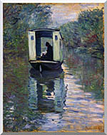 Claude Monet The Boat Studio stretched canvas art