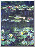 Claude Monet Green Reflection Detail stretched canvas art