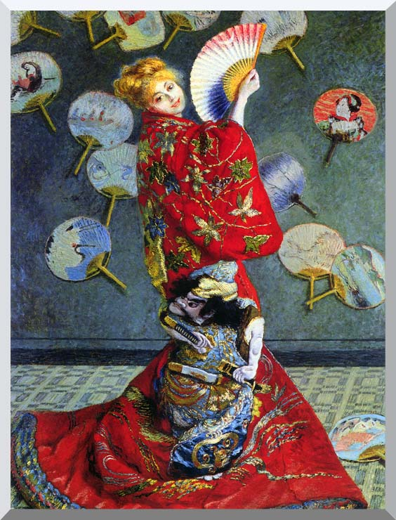 Claude Monet Camille Monet in Japanese Costume stretched canvas art print